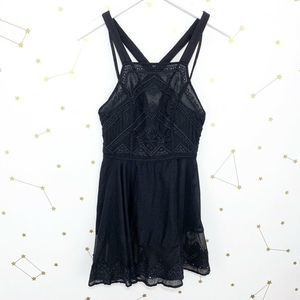 Free People • Black Embroidered Marrakesh Tunic XS